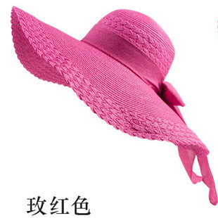 Wide Large Brim Floppy Straw Hat - Ashlays - 3