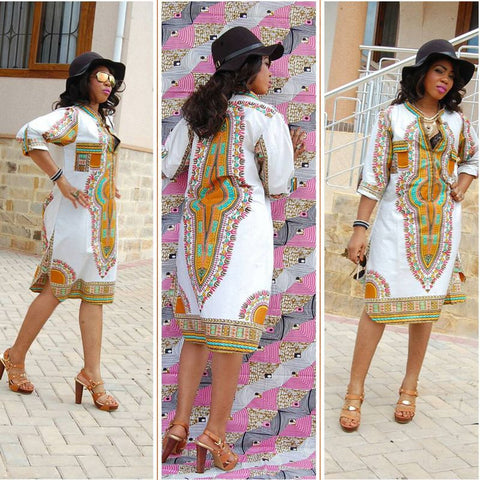 Dashiki Dress African Tranditional - Ashlays - 1