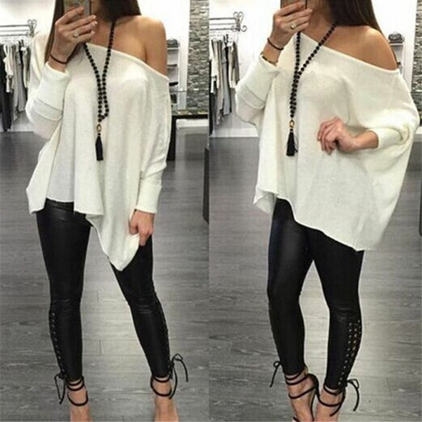 Off Shoulder Casual Loose Top