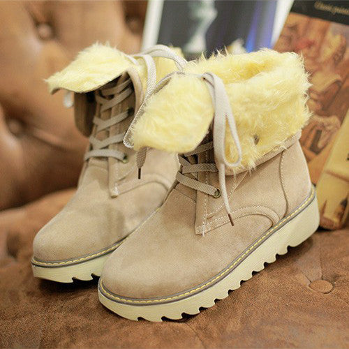 Winter women boots ankle boots for women shoes plush solid snow boots 2015 - Ashlays - 5