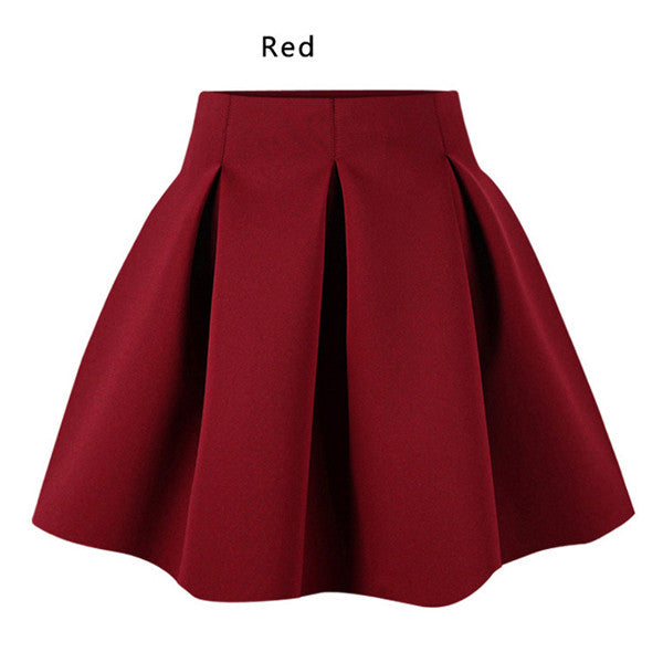 Cotton Space Pleated Skirt - Ashlays - 4