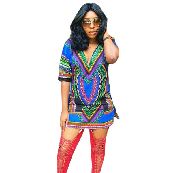 African Print Dashiki Dress - Ashlays - 1