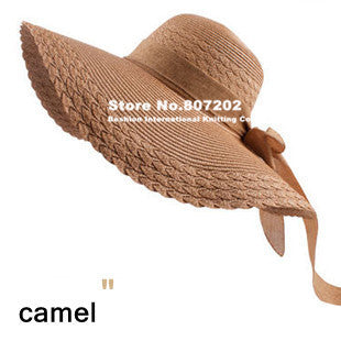 Wide Large Brim Floppy Straw Hat - Ashlays - 6