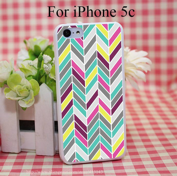 Chevron Cover Case for iPhone 4 4s 5 5s 5c 6 6s - Ashlays - 2