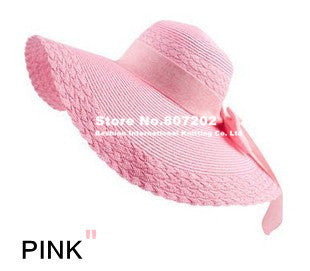 Wide Large Brim Floppy Straw Hat - Ashlays - 7
