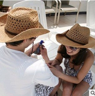 Straw Cowboy Beach Hat - Ashlays - 1