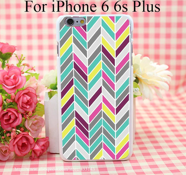 Chevron Cover Case for iPhone 4 4s 5 5s 5c 6 6s - Ashlays - 5