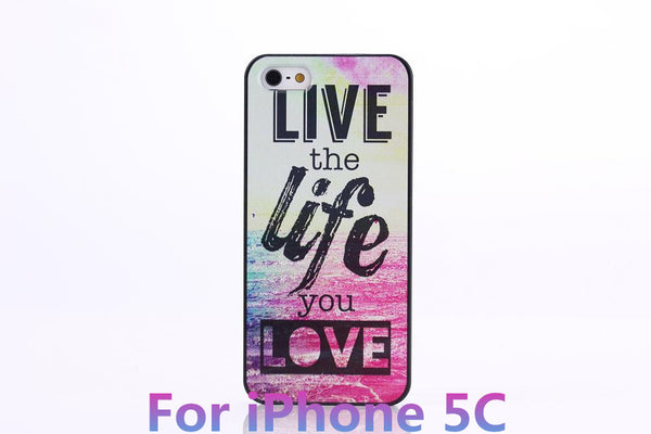 Chevron The Life You Live Design Hard Plastic Protective Phone Case Cover For iPhone 4 4S 5 5S 5C - Ashlays - 2