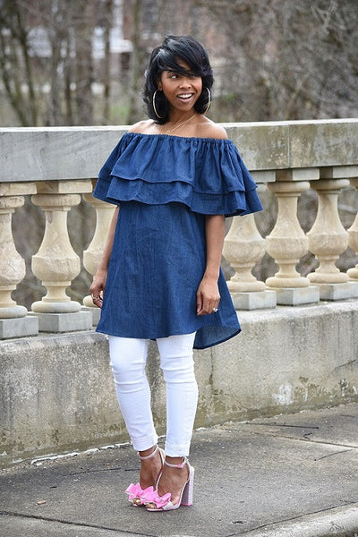 Women Fashion Denim Shirt Dress - Ashlays - 2