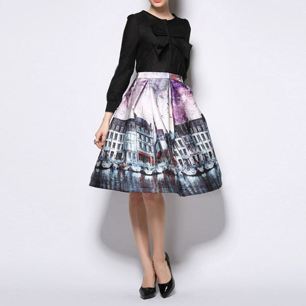 Vintage Painting Pattern Skirt - Ashlays - 3