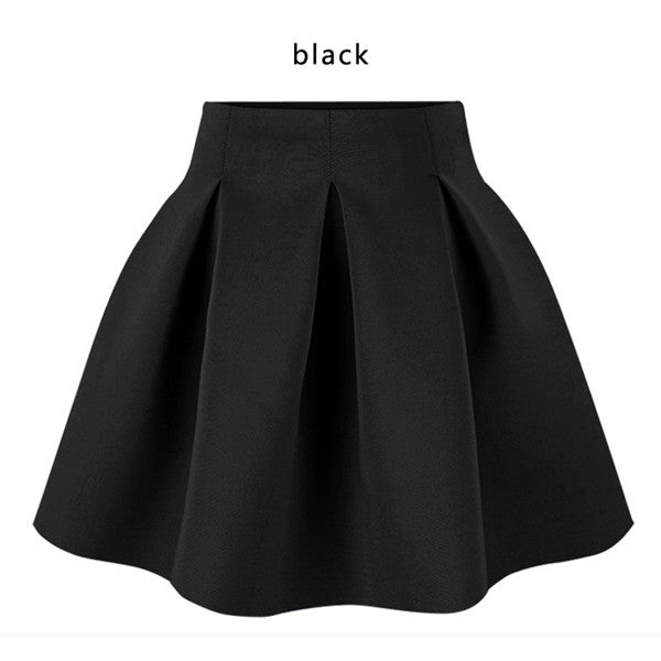 Cotton Space Pleated Skirt - Ashlays - 2