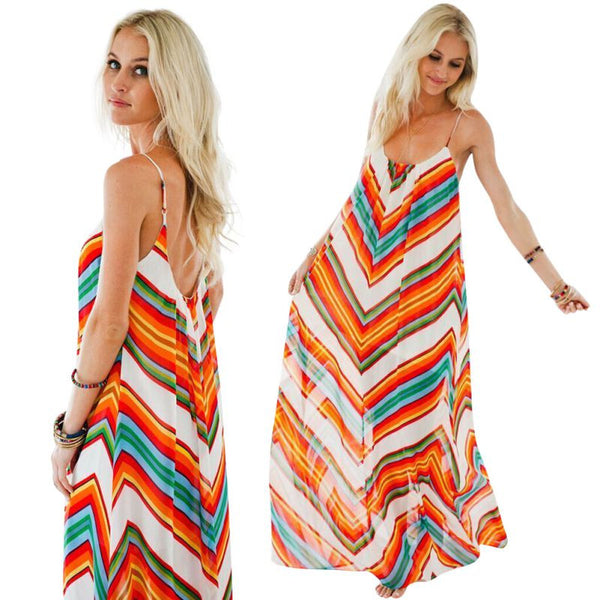 Long Maxi Bohemian Sundress - Ashlays - 1