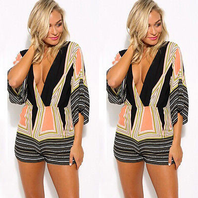 Casual Geometric Women Romper - Ashlays - 1
