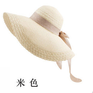 Wide Large Brim Floppy Straw Hat - Ashlays - 4