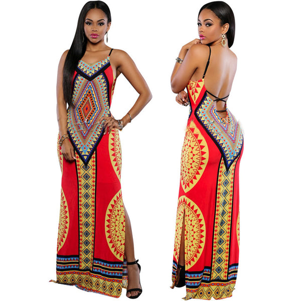 Long Maxi Dashiki Dress - Ashlays - 1