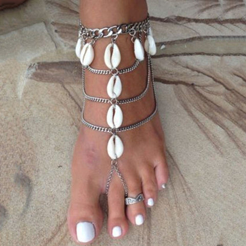 Vintage Multilayer Beach Barefoot Sandals - Ashlays