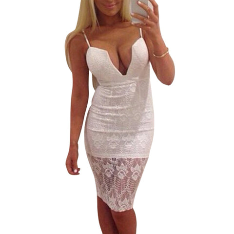 Lace Party Bodycon Dress - Ashlays