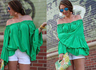 Off Shoulder Loose Fit Blouse - Ashlays