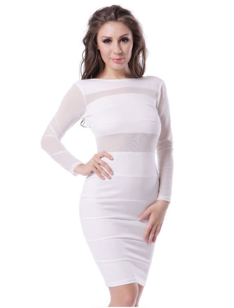 Long Sleeve Club Dress - Ashlays - 3