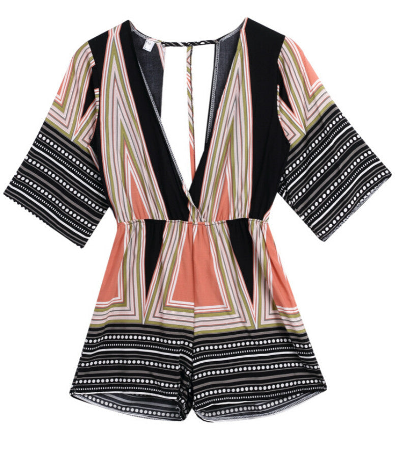 Casual Geometric Women Romper - Ashlays - 2