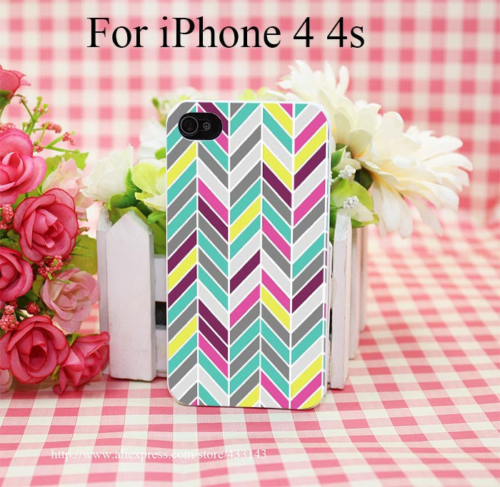 Chevron Cover Case for iPhone 4 4s 5 5s 5c 6 6s - Ashlays - 6