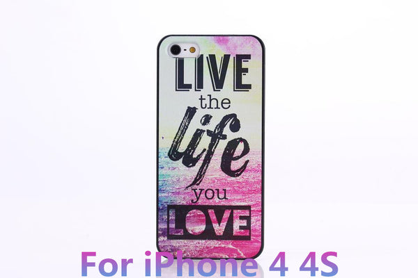 Chevron The Life You Live Design Hard Plastic Protective Phone Case Cover For iPhone 4 4S 5 5S 5C - Ashlays - 3