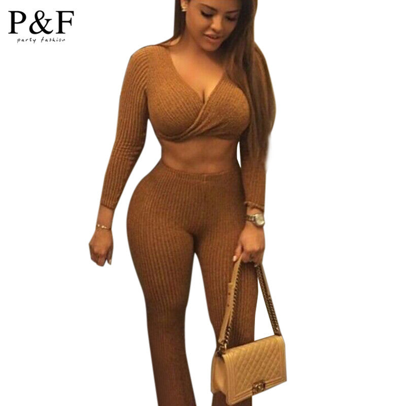 Two Piece Pants Jumpsuit Set - Ashlays