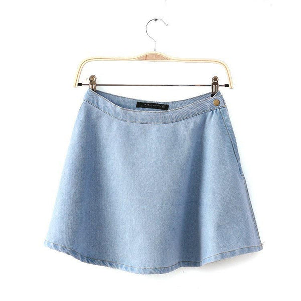 Vintage High Waist Jeans Skirt - Ashlays - 3