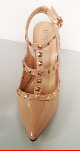 Sexy Pointed Toe Studded High Heels - Ashlays - 2