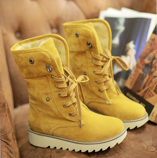 Winter women boots ankle boots for women shoes plush solid snow boots 2015 - Ashlays - 3
