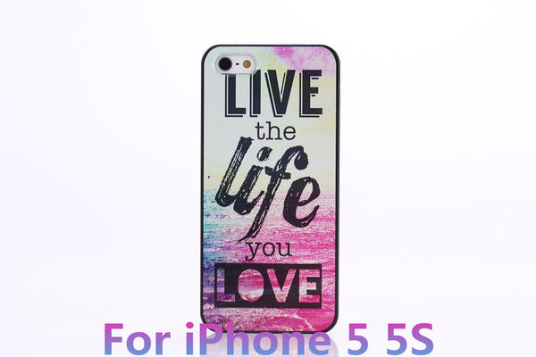 Chevron The Life You Live Design Hard Plastic Protective Phone Case Cover For iPhone 4 4S 5 5S 5C - Ashlays - 4