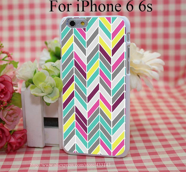 Chevron Cover Case for iPhone 4 4s 5 5s 5c 6 6s - Ashlays - 4