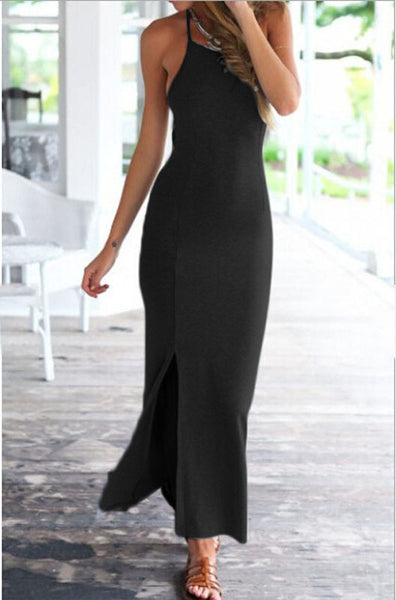Spaghetti Strap Long Maxi Dress - Ashlays - 3