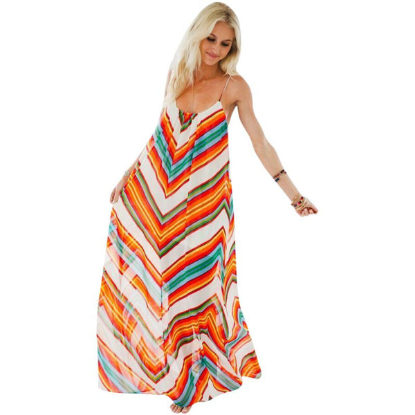 Long Maxi Bohemian Sundress - Ashlays - 2