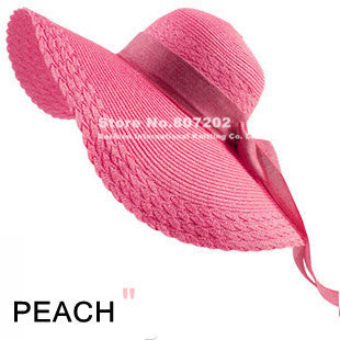 Wide Large Brim Floppy Straw Hat - Ashlays - 8