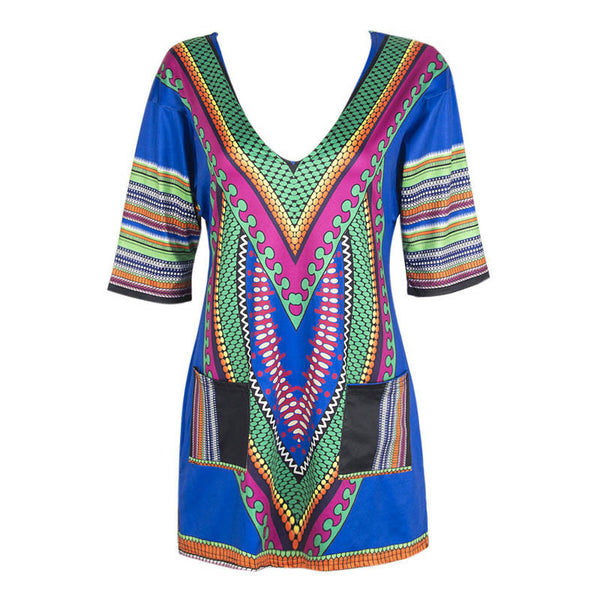 African Print Dashiki Dress - Ashlays - 2