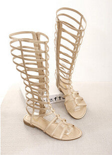Knee High Gladiator Sandals - Ashlays - 3