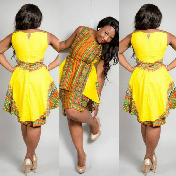 Double-layer Fashion African Dress - Ashlays - 2
