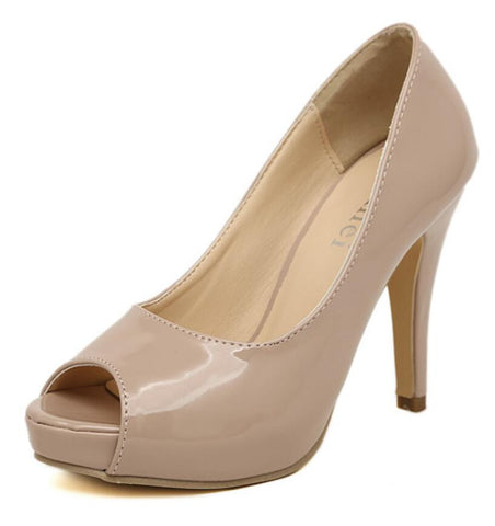 Open Toe Women Pumps Nude - Ashlays - 1