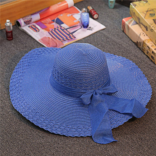 Wide Large Brim Floppy Straw Hat - Ashlays - 5