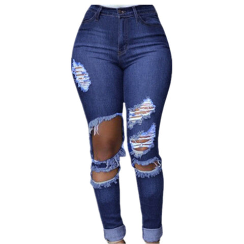 Ripped Skinny Denim Jeans - Ashlays