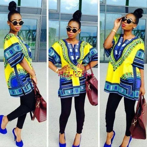 Dashiki African Dress Shirt - Ashlays - 1