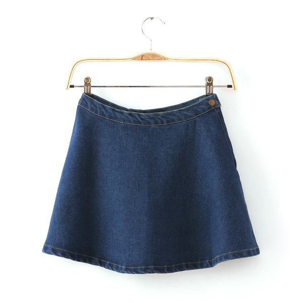 Vintage High Waist Jeans Skirt - Ashlays - 2