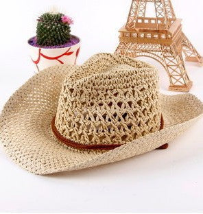 Straw Cowboy Beach Hat - Ashlays - 3