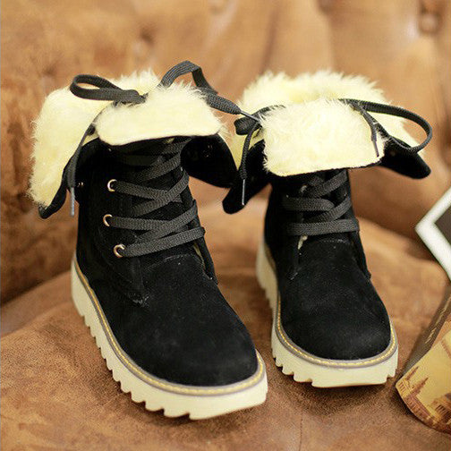 Winter women boots ankle boots for women shoes plush solid snow boots 2015 - Ashlays - 2