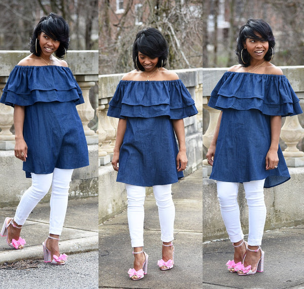 Women Fashion Denim Shirt Dress - Ashlays - 1