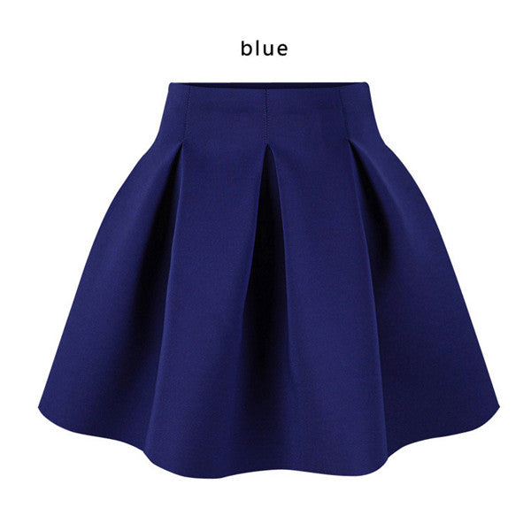 Cotton Space Pleated Skirt - Ashlays - 3