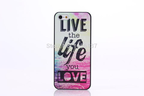 Chevron The Life You Live Design Hard Plastic Protective Phone Case Cover For iPhone 4 4S 5 5S 5C - Ashlays - 1