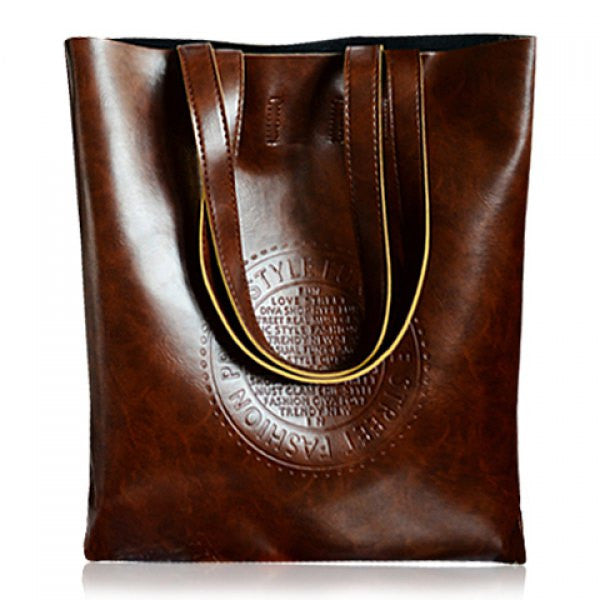 Leather Tote Messenger Bag - Ashlays - 1
