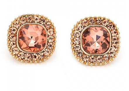 Rhinestoned Round Earrings - Ashlays